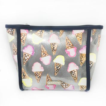 Gelato Glitter Vinyl Large Cosmetic Bag