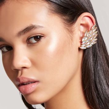 Iridescent Faux Gem Ear Cuffs