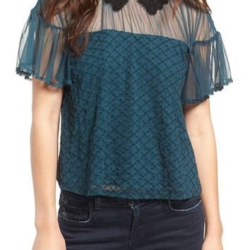 Tularosa Langley Lace Collar Top | Nordstrom
