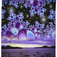 Purple Diamonds Sky Shower Curtain