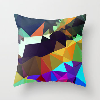 Modern Art Pillow Cover - Multicolored Abstract Decorative Pillow Cover - Contemporary Design