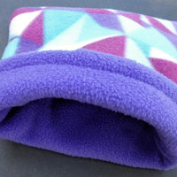 Snuggle Sack Guinea Pig Hamster Bed Purple Pouch Pet Cuddle Cage Sugar Glider