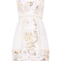 Ana White Premium Strappy Plunge Tassel Sequin Mini Dress