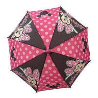 "Minnie Mouse Pink and Polka Dots ""oh so MINNIE!"" Girls Umbrella"