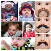 Top Silicone Funny Nipple Dummy Baby Soother Joke Prank Toddler Pacy Orthodontic Nipples Teether Baby Pacifier Care