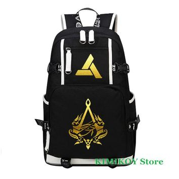 Girls bookbag Assassins Creed Luminous backpack Boy Girl for teenagers Men women's Student School Bags travel Shoulder Bag Laptop Bags bookbag AT_52_3