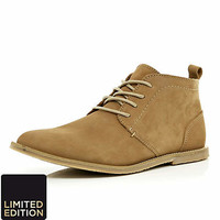 Brown lace up chukka boots - boots - shoes / boots - men