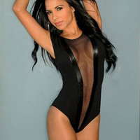 On Sale Hot Deal Cute Black Sleeveless Sexy One-piece Exotic Lingerie [6596682243]