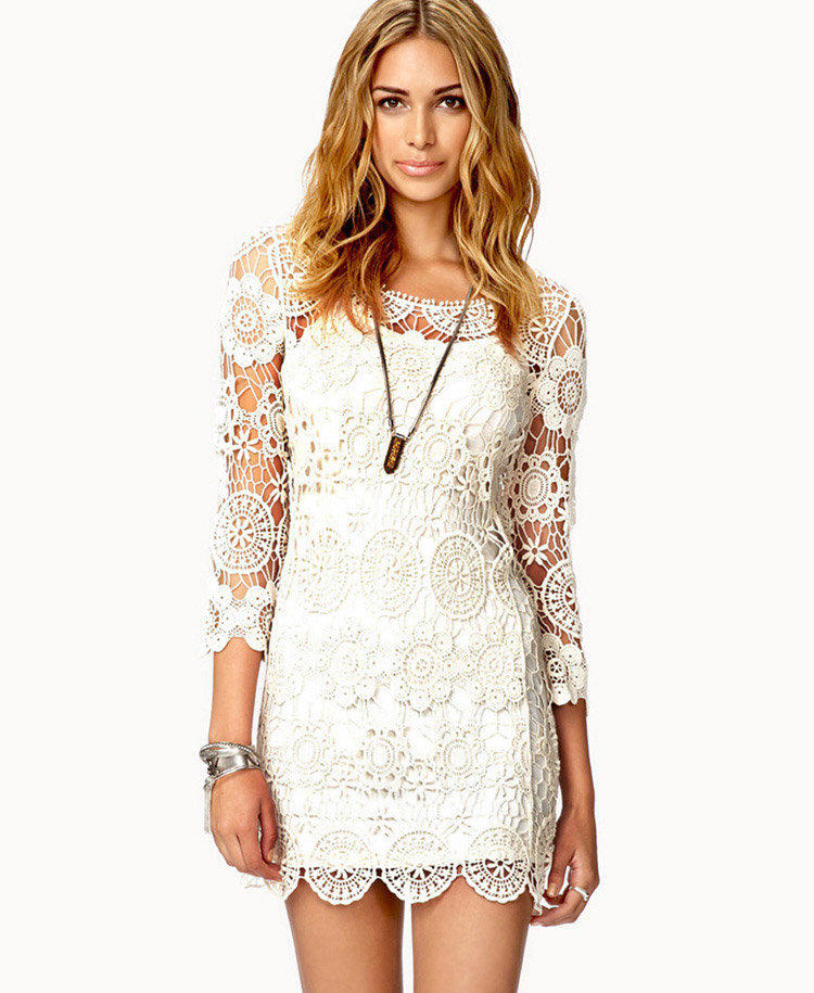 Crochet Lace Mini Dress from Forever 21