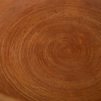 Eco friendly ceramic light brown bowl handmade red clay pottery kitchenware
