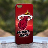 Miami-Heat-Logo, Print on Hard Cover iPhone 4/4S Black Case