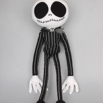 Large Size 68 CM The Nightmare Before Christmas Jack Skellington Plush Dolls Cosplay Toys Children Soft Toys
