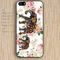 iPhone 5s 6 case elephant flowers dream catcher colorful phone case iphone case,ipod case,samsung galaxy case available plastic rubber case waterproof B595