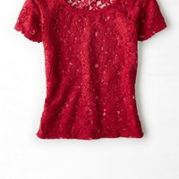 AEO 's Don't Ask Why Lace Baby T-shirt