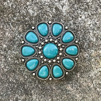 Turquoise  Color Belt Buckle