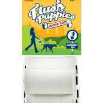 Flush Puppies Flushable & Certified Compostable Doodie Bags for Dogs