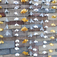 Decorative Custom Flower Wall Hanging - Wild Rose Garden Wedding Decor / Backdrop / Garland