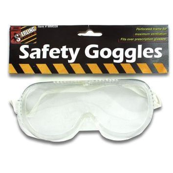 Perforated Frame Safety Goggles Set of 24 Pack