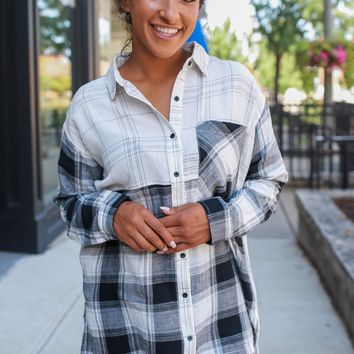 Daniella Plaid Top
