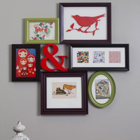 Place to Collage Your Own Picture Frame in Multi   Mod Retro Vintage Decor Accessories   ModCloth.com