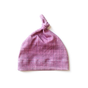 Organic Baby Knotted Hat Cranberry Plum