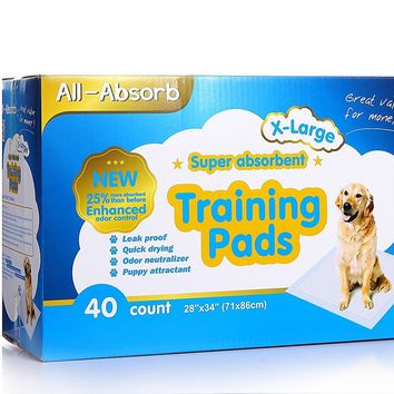All-Absorb Extra Large Dog Training Pads 28-inch By 34-inch, 40-count