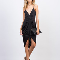Drapey Pleated Party Dress