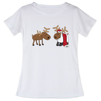 New Design Girls Deer T Shirts Summer Elk Ladies O Neck T-shirt Printed Womens 3D Tees Short Sleeve Christmas Personality Tees
