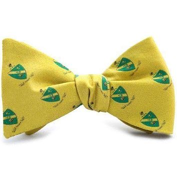 Alpha Gamma Rho Bow Tie in Gold by Dogwood Black