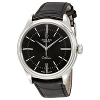 ROLEXCellini Time Black Dial Automatic Men's 18 Carat White Gold WatchItem No. 50509BKSL
