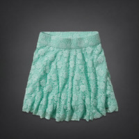 Dockweiler Beach Lace Skater Skirt