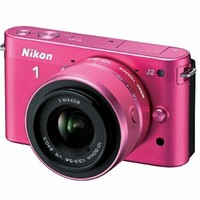 Nikon 1 J2 10.1 MP HD Digital Camera with 10-30mm VR Lens (Pink)