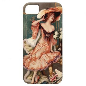 Victorian Pin Up Girl Dress Fashion Costume Paris iPhone 5 Cover
