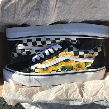 Sunflower Checkered Old Skool Vans