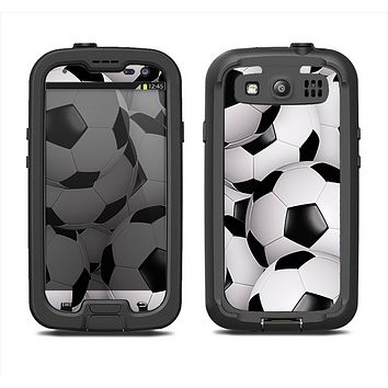 The Soccer Ball Overlay Samsung Galaxy S3 LifeProof Fre Case Skin Set