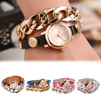 Fashion rivet leather bracelet watch chain table women watch pendant men's watches students fashion watches = 1705946884