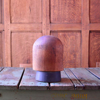 Antique Wood Hat Form, Millnery Wooden Block Hat Form, Hat Stand, Hat Block, Grand