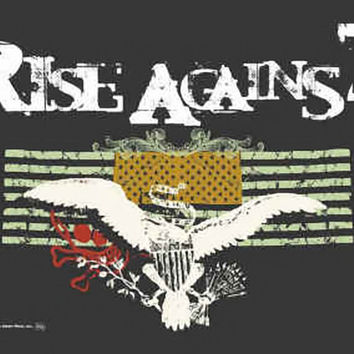 Rise Against Poster Flag Double Flags Logo Tapestry
