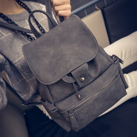 Vintage Womens Leather Backpack Travel Bag