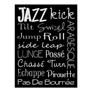Jazz Dance Subway Art  Poster from Zazzle.com