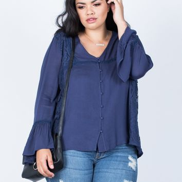 Plus Size Ring the Bell Top