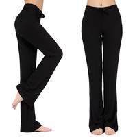 Packii-Womens Soft Comfort Cotton Spandex Yoga Sweat Lounge Gym Sports Athletic Pants = 1931977540