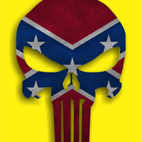 Punisher Rebel Confederate Flag Vinyl Die Cut Decal Sticker