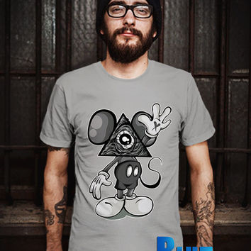 MIckey Mouse Illuminati Men T-Shirt - Mickey Mouse T-Shirt - iluminati T-Shirt - Disney Design T-Shirt for Men (Various Color Available)