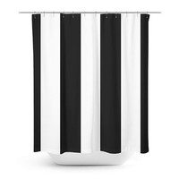 Black White Shower Curtain,  bathroom Decor, ,  Minimalist Stripes