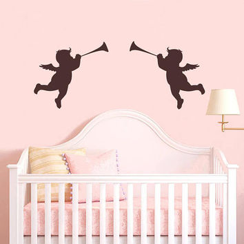 Cupid Wall Decal,Cupids Firing Arrow, Full of Love, Wall Decals Stickers, Cupids Shooting Love, Cupid wall art, Arrows Wall Decal /i72