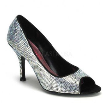 Iridescent Rhinestone Peep Toe Pump Heels @ Amiclubwear Heel Shoes online store sales:Stiletto Heel Shoes,High Heel Pumps,Womens High Heel Shoes,Prom Shoes,Summer Shoes,Spring Shoes,Spool Heel,Womens Dress Shoes,Prom Heels,Prom Pumps,High Heel Sandals,Che