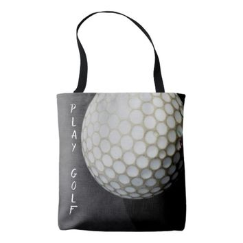golf ball tote bag design for golfers
