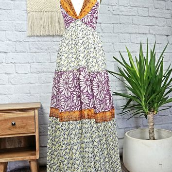 Modern Bohemian Goddess + Patchwork Maxi Dress