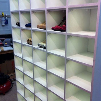 Custom Shoe Organizer / Rack with L.E.D.s by ChrisONeillDesigns